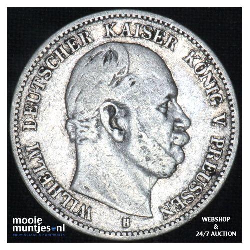 2 mark - (reform coinage) - German States/Prussia 1876 B (KM 506) (kant B)
