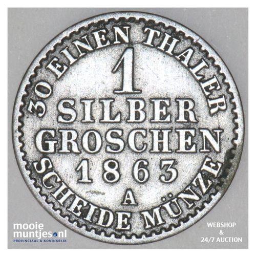 groschen - German States/Prussia 1863 A (KM 485) (kant A)