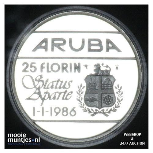 Aruba - 25 florin - 1986 PP in capsule (kant A)