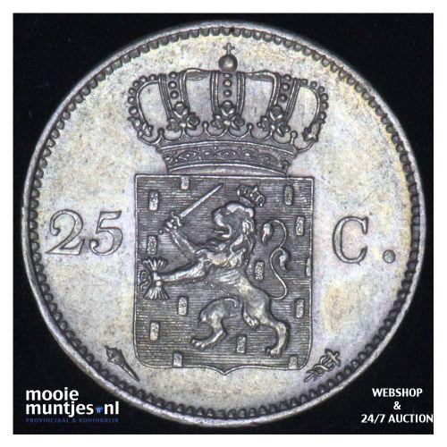 25 cent - Willem I - 1825 Utrecht (kant B)