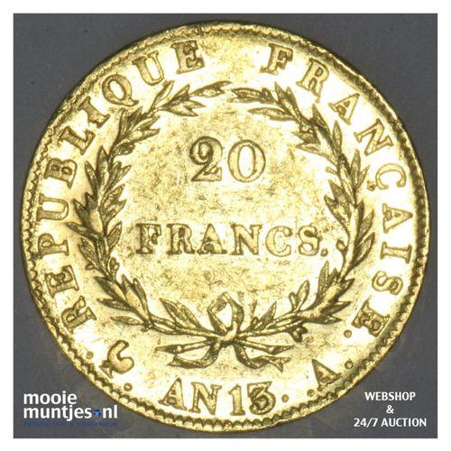 20 francs - France AN 13 A (Paris) (KM 663.1) (kant A)