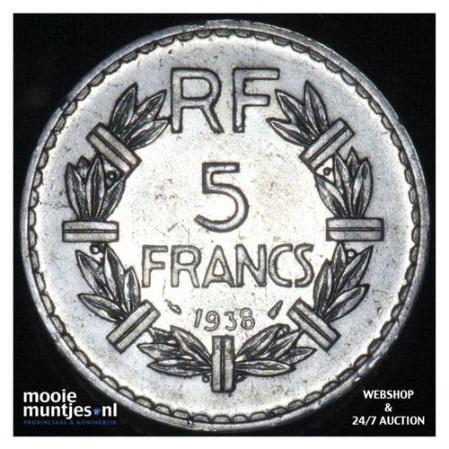 5 francs - France 1938 (a) (KM 888) (kant A)