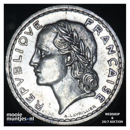 5 francs - France 1938 (a) (KM 888) (kant B)