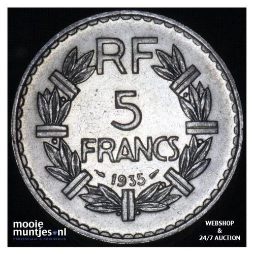 5 francs - France 1935 (a) (KM 888) (kant A)