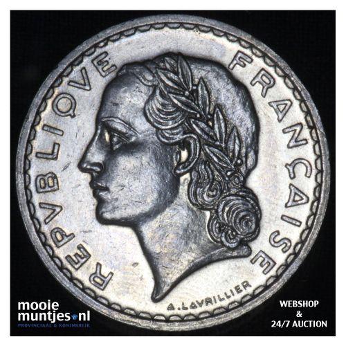 5 francs - France 1935 (a) (KM 888) (kant B)