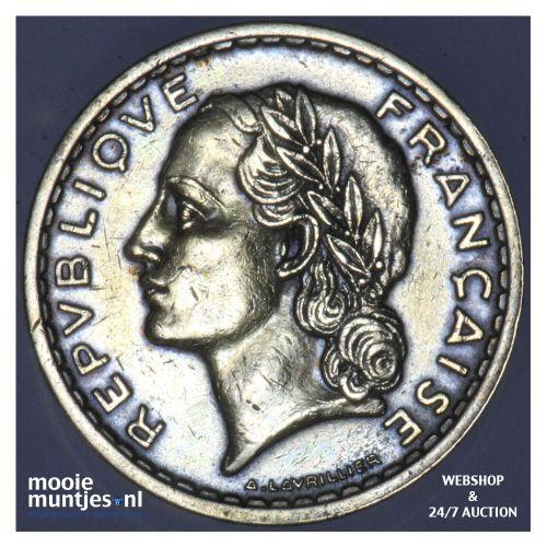 5 francs - France 1938 (a) (KM 888a.1) (kant B)