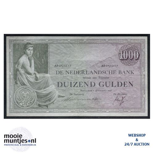 1000 gulden  - 1926 (Mev. 152-3 / AV 106A) (kant A)
