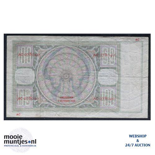 100 gulden - 1930 (Mev. 117-1 / AV 81) (kant B)