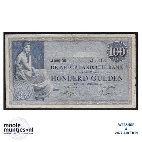 100 gulden - 1921 (Mev. 116-2 / AV 80) (kant A)