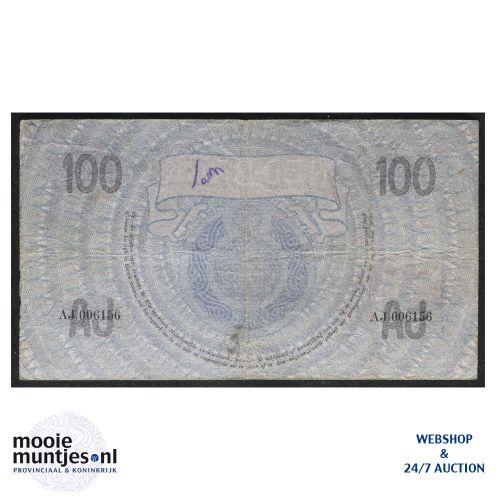 100 gulden - 1921 (Mev. 116-2 / AV 80) (kant B)