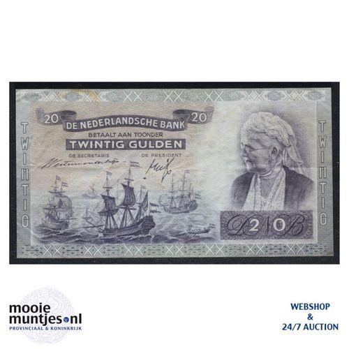 20 gulden - 1939 (Mev. 58-2 / AV 41) (kant A)
