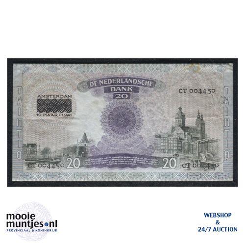 20 gulden - 1939 (Mev. 58-2 / AV 41) (kant B)