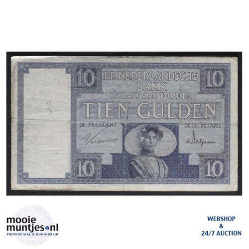 10 gulden  - 1924 (Mev. 39-1b / AV 28) (kant A)