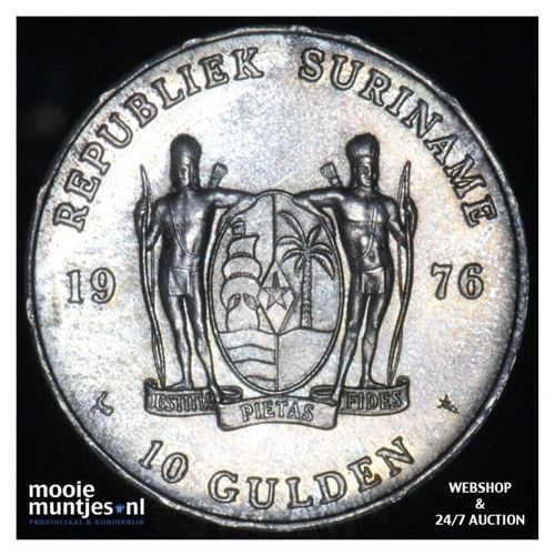 Suriname (republiek)  - 10 gulden - 1976 FDC (kant A)