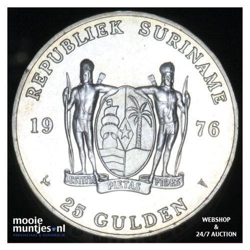Suriname (republiek)  - 25 gulden - 1976 FDC (kant A)