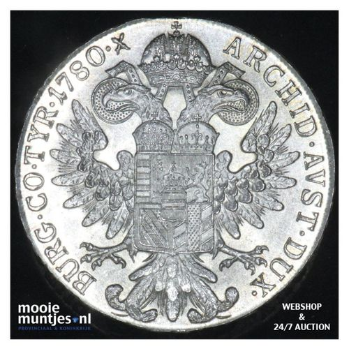 thaler - (trade coinage) - Austria 1780 SF (restrike) (KM T1) (kant A)