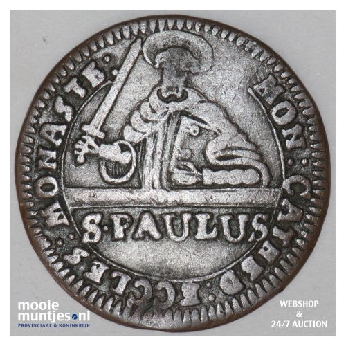 3 pfennig - (cathedral chapter) - German States/Munster 1760 (KM 430) (kant B)