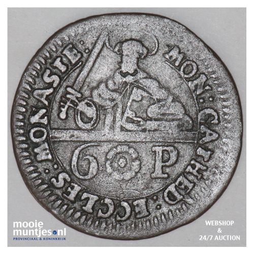 6 pfennig - (cathedral chapter) - German States/Munster 1762 (KM 440) (kant B)
