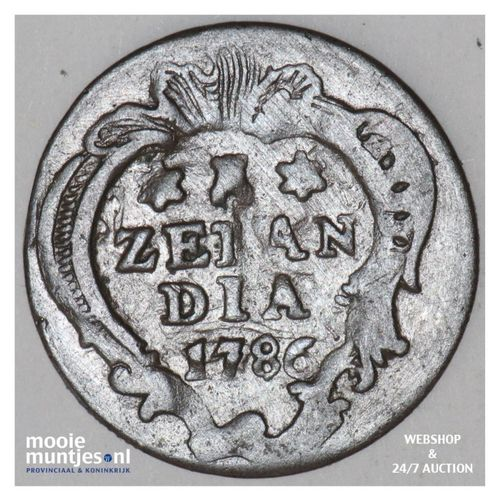 Zeeland - Duit - 1786 (kant A)