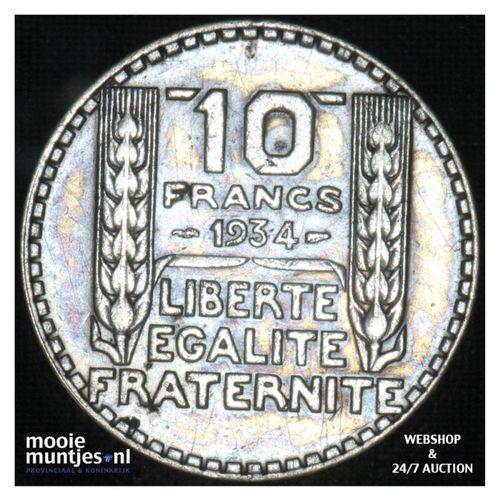 10 francs - France 1934 (KM 878) (kant A)