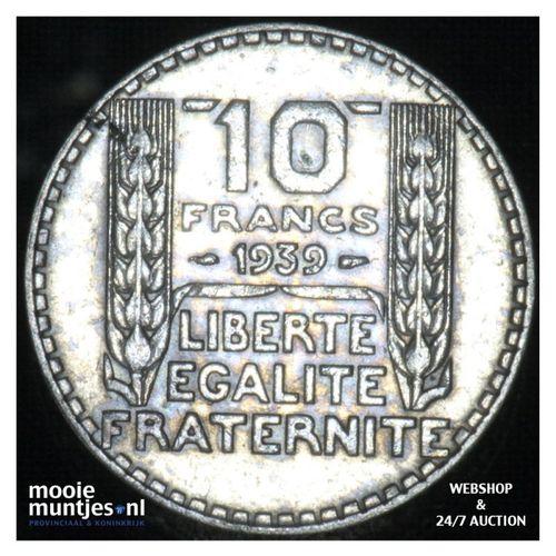 10 francs - France 1939 (KM 878) (kant A)