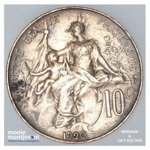 10 centimes - France 1920 (KM 843) (kant A)