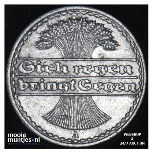 50 pfennig - Weimar Republic 1920 A (KM 27) (kant B)