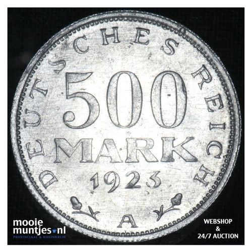 500 mark - Weimar Republic 1923 A (KM 36) (kant A)