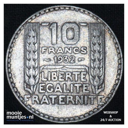 10 francs - France 1932 (KM 878) (kant A)
