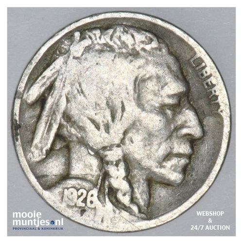 5 cents - buffalo nickel -  - United States of America 1926 (KM 134) (kant A)