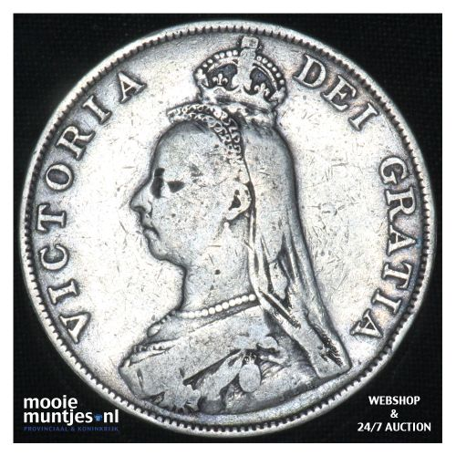 double florin - Great Britain 1890 (KM 763) (kant B)