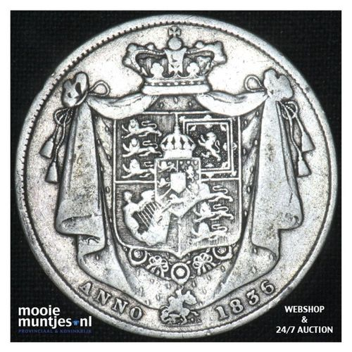 1/2 crown - Great Britain 1836 (KM 714.2) (kant A)