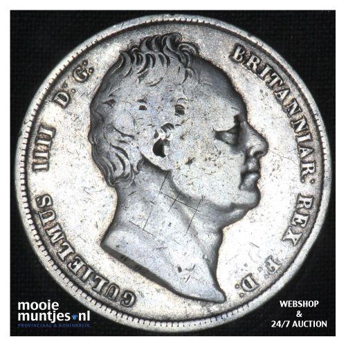 1/2 crown - Great Britain 1836 (KM 714.2) (kant B)