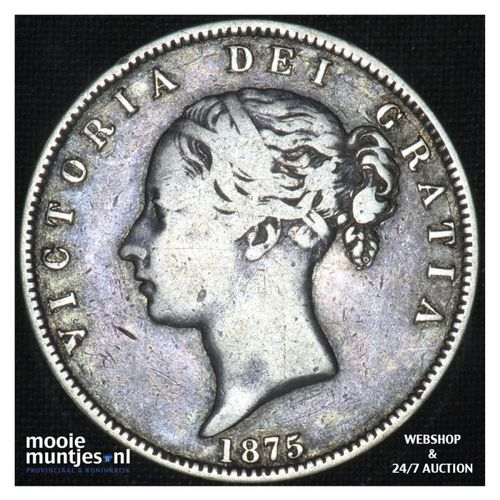 1/2 crown - Great Britain 1875 (KM 756) (kant A)