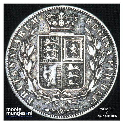 1/2 crown - Great Britain 1875 (KM 756) (kant B)