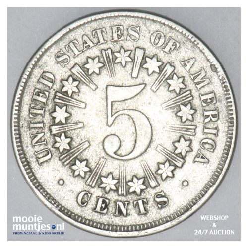 5 cents - shield nickel -  - United States of America/Circulation coinage 1866 (