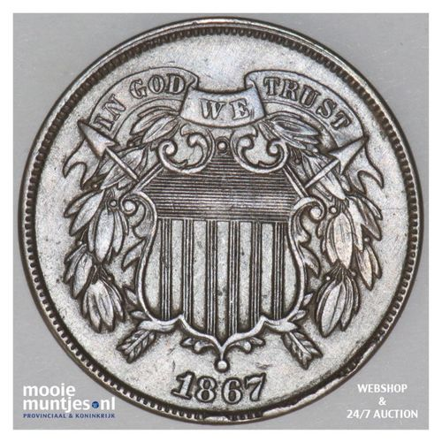 2 cents -  - United States of America/Circulation coinage 1867 (KM 94) (kant A)