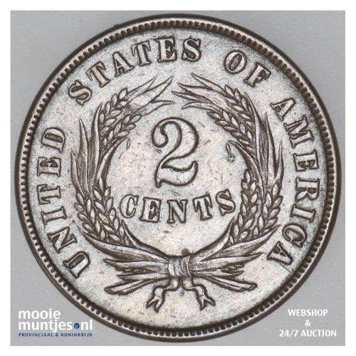 2 cents -  - United States of America/Circulation coinage 1867 (KM 94) (kant B)