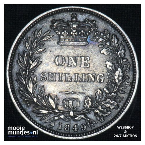 shilling - Great Britain 1849 (KM 743.1) (kant A)