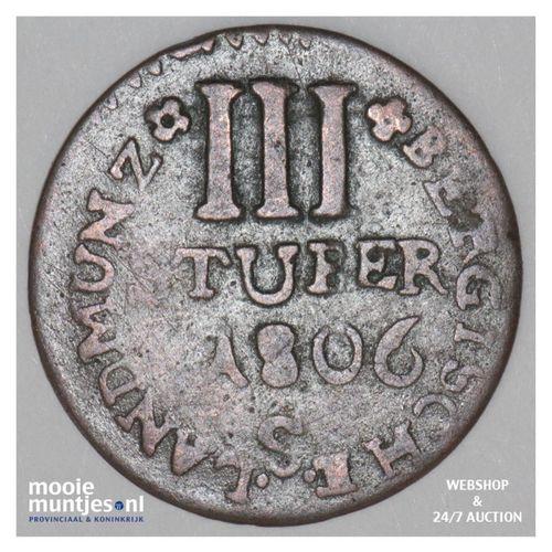 3 stuber - duchy - German States/Berg 1806 S (KM 7) (kant A)