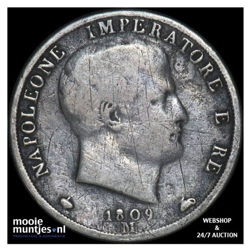 2 lire - Italian States/Kingdom of Napoleon 1809 M (KM C# 9.1) (kant A)