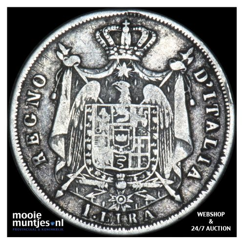 lira - Italian States/Kingdom of Napoleon 1813 B (KM C# 8.2) (kant B)