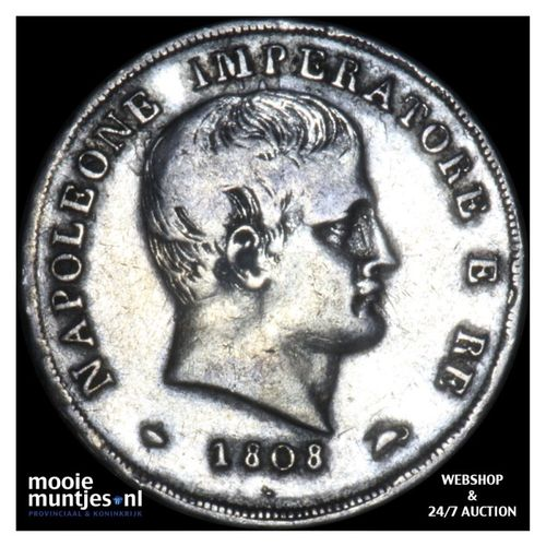 15 soldi - Italian States/Kingdom of Napoleon 1808 M (KM C# 7) (kant A)