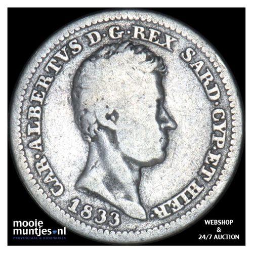 50 centesimi - mainland reform coinage - Italian States/Sardinia 1833 (KM 134.1)