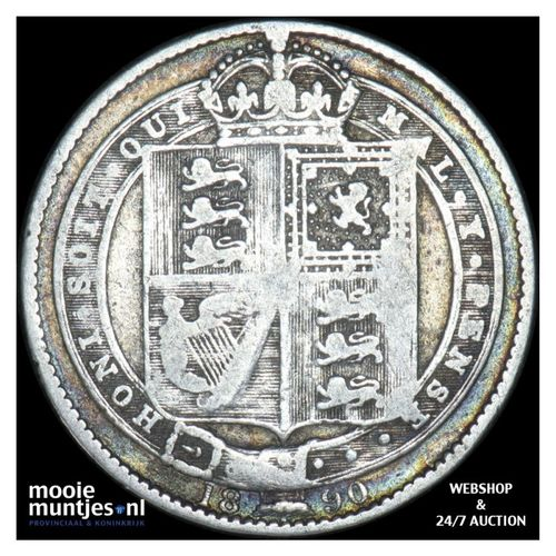 shilling - Great Britain 1890 (KM 774) (kant A)