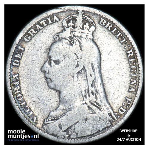 shilling - Great Britain 1890 (KM 774) (kant B)