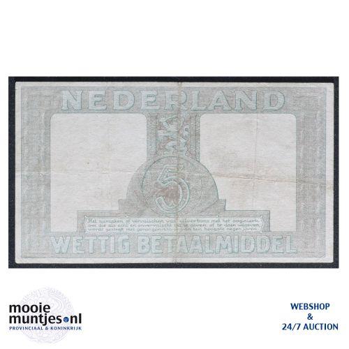 5 gulden - 1944 (Mev. 22-1b / AV 17) (kant B)