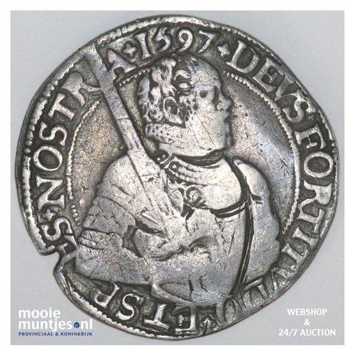 West-Friesland - Gehelmde rijksdaalder of Prinsendaalder - 1597 over 96 (kant A)