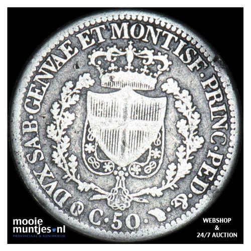 50 centesimi - mainland reform coinage - Italian States/Sardinia 1830 (KM 124.1)