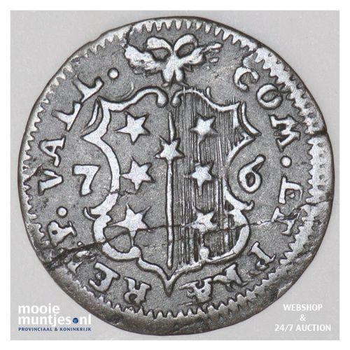 1/2 batzen - Swiss Cantons/Sitten 1776 DS (KM 33) (kant A)